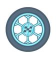 Wheel from racing car icon cartoon style vector image