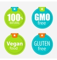 Gmo Free 100 Natutal Vegan Food and Gluten Free vector image