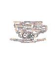 Coffee Theme Word Cloud vector image