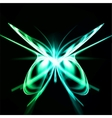 Shiny abstract butterfly futuristic wave vector image vector image