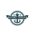 nautical anchor and helm heraldic symbol vector image vector image