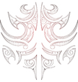 Maori tribal art tattoo vector image
