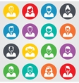 User sign icon Person symbol Human avatar Round vector image