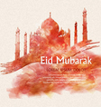 background with a mosque for the Muslim holiday vector image vector image