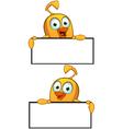 Cartoon Chick Border Frame vector image