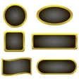 Golden buttons vector image