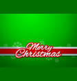 Merry Christmas on Green Background vector image