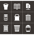 Trach can icon set vector image