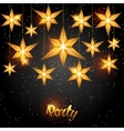 Celebration party background with starsornament vector image
