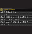 australia country airport board information vector image