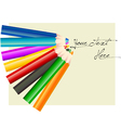 Group of eight different colored pencils vector image vector image
