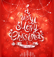 Christmas blurred red bg vector image