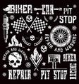 Car repair and racing badges vector image