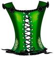 green corset vector image vector image