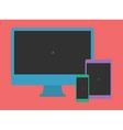 Digital Minimalist Flat Design Template Monitor vector image