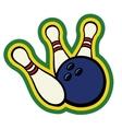 bowling ball with pins vector image vector image