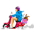 fast delivery of pizza vector image vector image