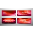 abstract line banner set vector image