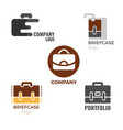 briefcase logos collection of on vector image