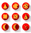 cheese flat icon with shadow vector image