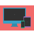 Digital Minimalist Flat Design Template Monitor vector image