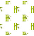 green bamboo stems pattern seamless vector image