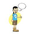 male cartoon character thumb up vector image