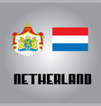 official government elements of netherland vector image