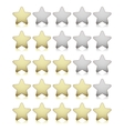 Rating stars vector image
