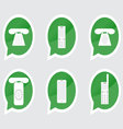Set of telephone sticker vector image