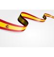 Spanish flag background vector image