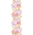 Sweet flowers vertical seamless pattern background vector image