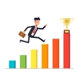 Businessman or manager with briefcase jumping up vector image