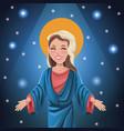 virgin mary spiritual bright background vector image