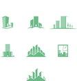 eco buildings 01 vector image