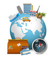 Travel Concept with Globe vector image