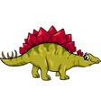 stegosaurus dinosaur cartoon vector image