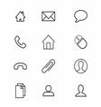 Thin Line Symbol Icon vector image