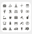 Travel and Hotel icons set vector image