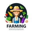 farming farmer farm logo design template vector image