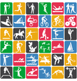 seamless pattern with olympic sport icons vector image
