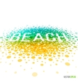 Summer beach beautiful design for greeting card vector image