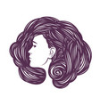 beauty shop cosmetic makeup or spa concept vector image