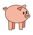 cartoon cute pink piggy money safety bank vector image
