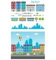 City Street Set vector image