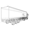 eurotrucks delivering vehicle wire-frame eps10 vector image
