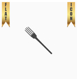 fork flat icon vector image