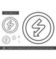 High voltage line icon vector image