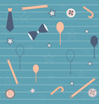 seamless repeating pattern with bow balloons vector image