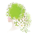 spring woman floral vector image